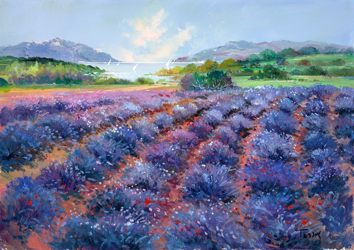 Seaside Fields I by torres -  sized 26x18 inches. Available from Whitewall Galleries